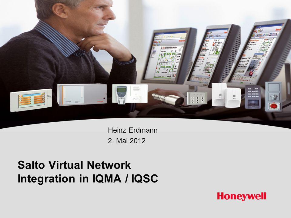 Honeywell Proprietary Honeywell.com 12 Document control number SVN Integration in IQMA / IQSC Eigene Raum/Zeitzonen für SALTO Türen