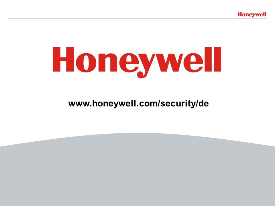 20 www.honeywell.com/security/de