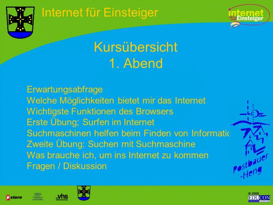 Hr. Streichert Hr. Gesellchen Internet für Einsteiger Agenda 21 - Postbauer-Heng