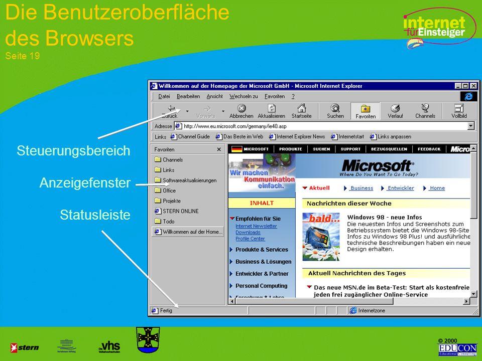 Netscape Navigator von Netscape (USA) Die zwei wichtigsten Browser Seite 16