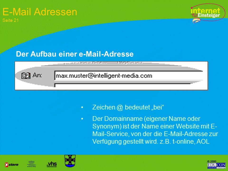 http://www.intelligent-media.com/educon/index.htlml Dateiname Pfad Domain Protokoll WWW steht zusammen mit dem Namen des Unternehmens und der Länderbe