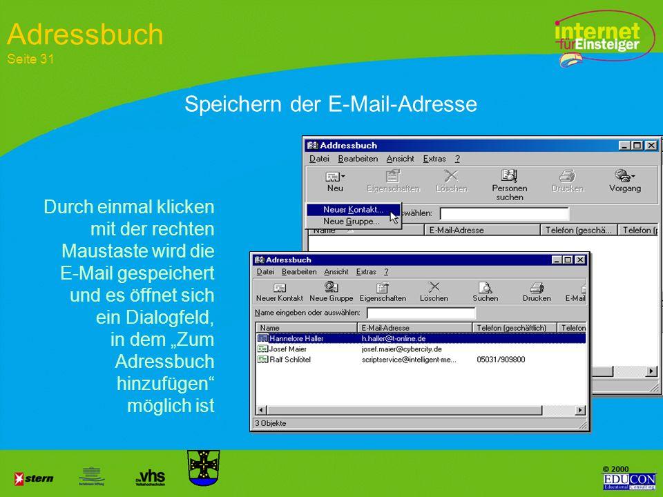 Nachricht absetzen Kommunizieren per E-Mail Seite 26