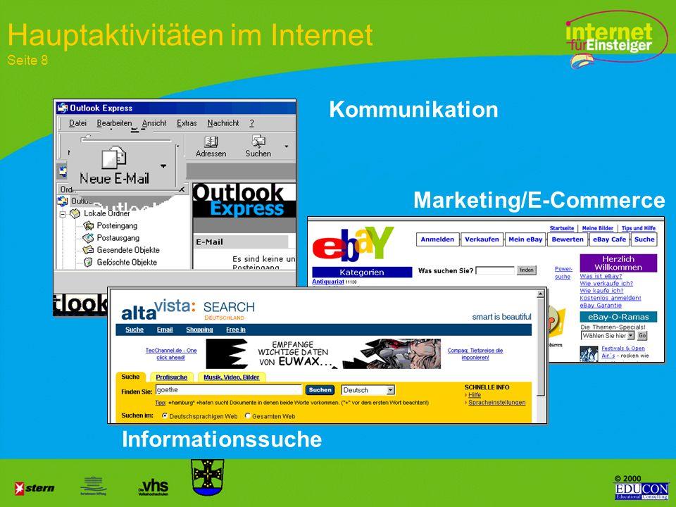 Internet für Einsteiger Wiederholung Homebanking: PIN/TAN, HBCI Newsgroups über F-Agent Chat: Plauderecke Net-meeting Internet-Telefonie Sicherheit be