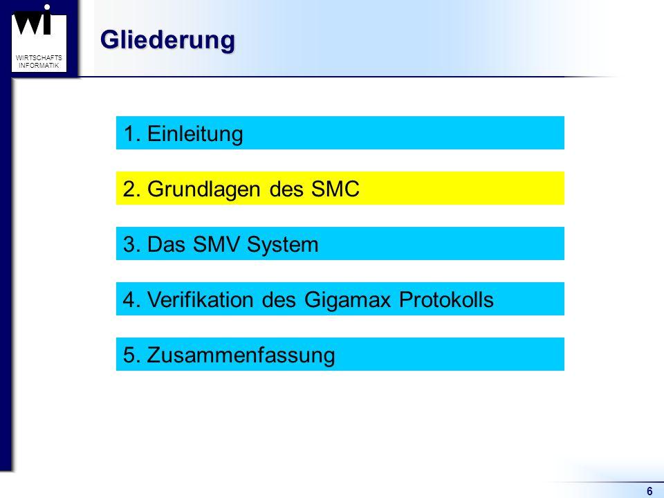 6 WIRTSCHAFTS INFORMATIKGliederung 1. Einleitung 2.