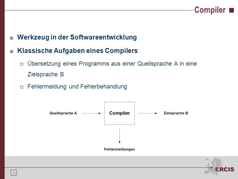 2 Agenda 1.Motivation 2.Formale Sprachen 3.Compiler 4.Compilerentwicklung 5.Ausblick