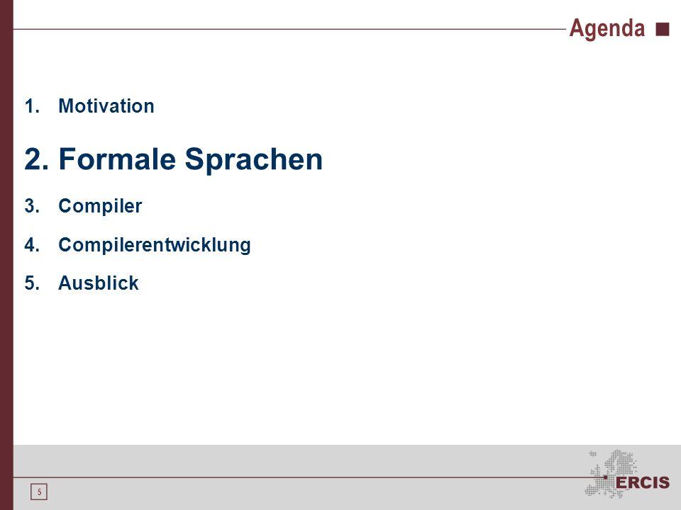 4 Compiler vs. Interpreter Interpreter = direkte Programmausführung Compiler sind schneller und effizienter Kompilierte Programme ohne Compiler ausfüh