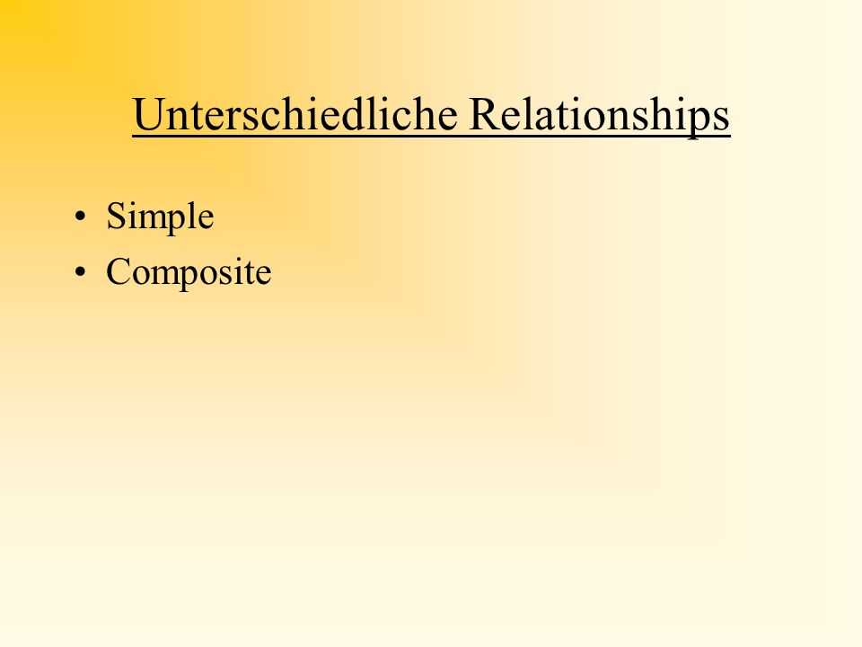 UML-Diagramme III Attribute 1 1 feature Attribute one- to- one Attribute 1 2...* feature Attribute 2...* feature one- to- many Relation- ship Class ma