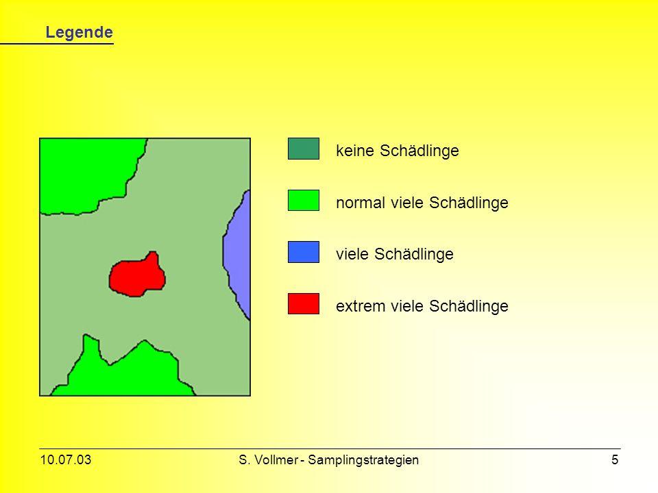 10.07.03S. Vollmer - Samplingstrategien4 Samplingarten (2) Es gibt viele Arten von Stichproben, hier die wichtigsten... Sampling Probability (random)