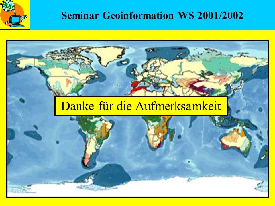 Seminar Geoinformation WS 2001/2002 Danke für die Aufmerksamkeit
