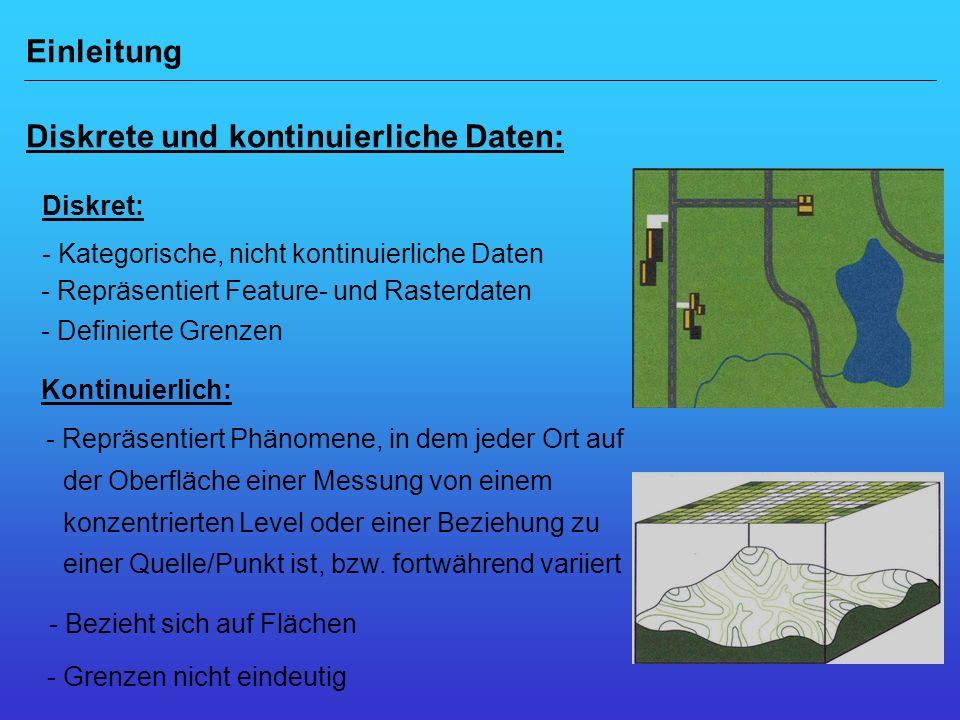 Einleitung Diskrete und kontinuierliche Daten: Geoinfo 1: