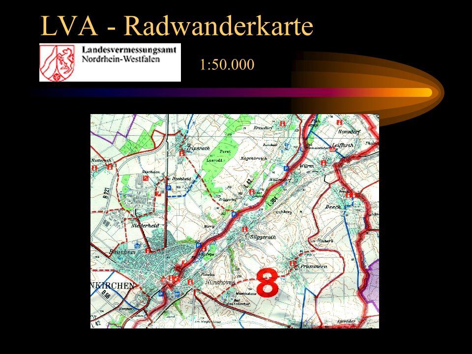 LVA - Radwanderkarte 1:50.000