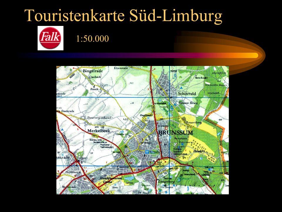 Touristenkarte Süd-Limburg 1:50.000