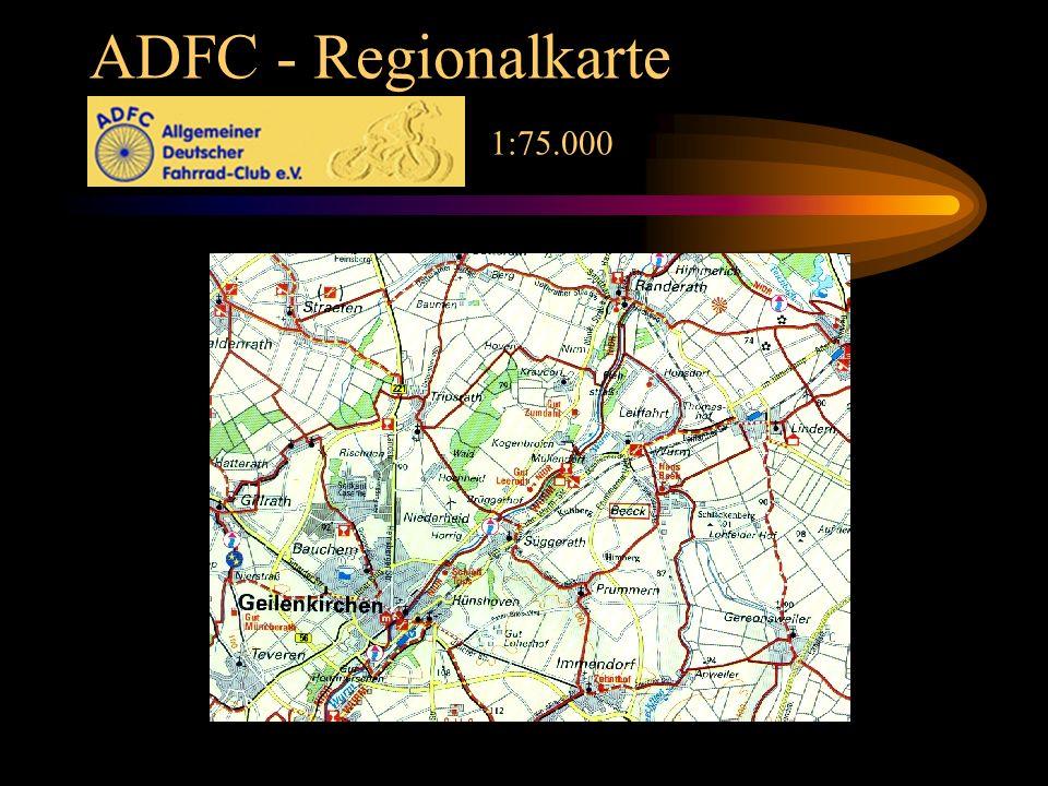 ADFC - Regionalkarte 1:75.000