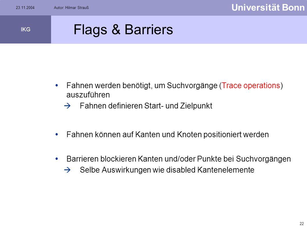 21 Universität Bonn IKG 23.11.2004Autor: Hilmar Strauß Lösung zu Aufgabe 1