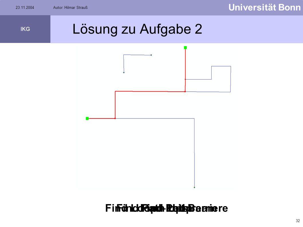 31 Universität Bonn IKG 23.11.2004Autor: Hilmar Strauß Aufgabe 2 Kopiert den Datensatz V:\Strauss\Aufgabe2\Elektrizitätsnetz in Euer Verzeichnis, ansc
