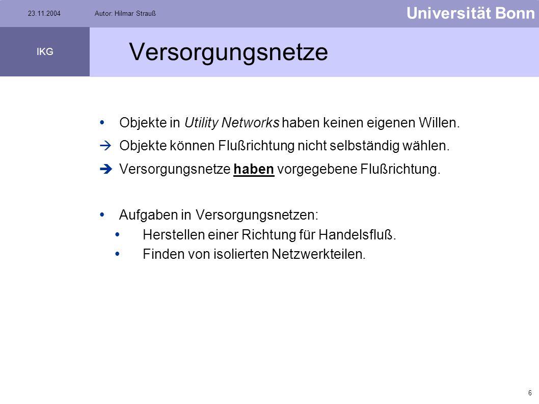 5 Universität Bonn IKG 23.11.2004Autor: Hilmar Strauß Transportnetze Beispiele: Flugrouten Autostraßen Schifffahrtswege Bahnliniennetz Quelle: home.t-