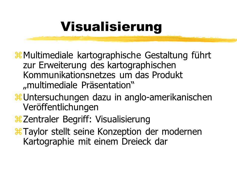 Visualisierung zMultimediale kartographische Gestaltung führt zur Erweiterung des kartographischen Kommunikationsnetzes um das Produkt multimediale Pr