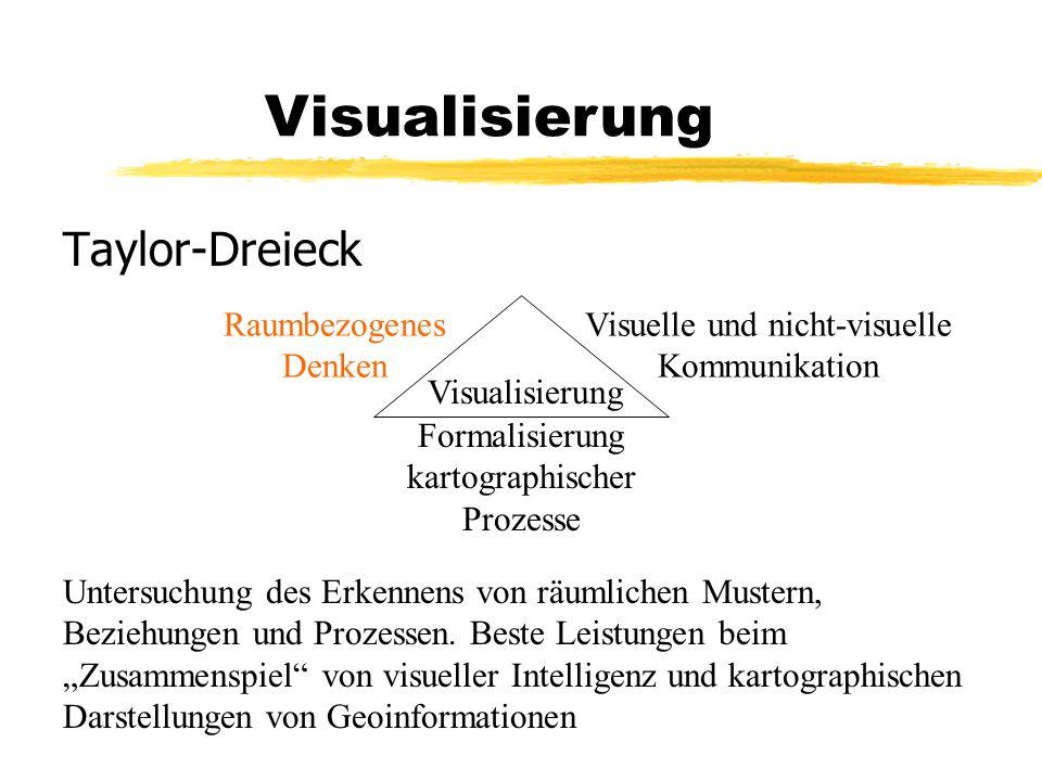 Taylor-Dreieck Visualisierung Raumbezogenes Denken Visuelle und nicht-visuelle Kommunikation Formalisierung kartographischer Prozesse Untersuchung des