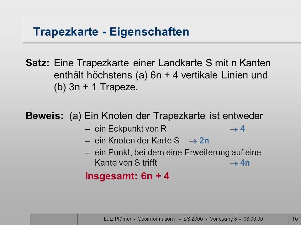 Lutz Plümer - Geoinformation II - SS 2000 - Vorlesung 8 - 08.06.009 Bezeichnungen leftprightp top bottom