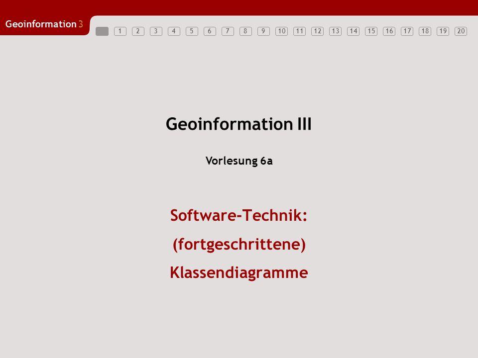 1234567891011121314151617181920 Geoinformation3 11 Generalisierung: Probleme A 3x eine Seitenlänge zuviel Redundanz Gefahr: Inkonsistenzen (z.B.