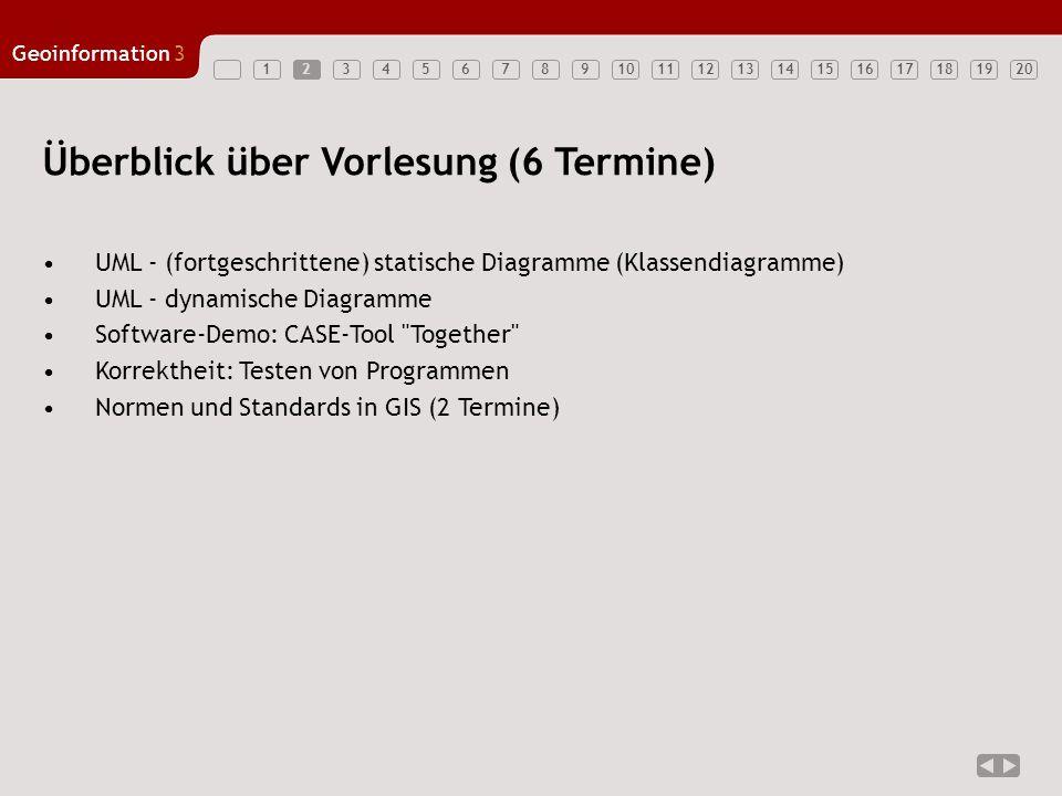 1234567891011121314151617181920 Geoinformation3 3 UML Klassendiagramme – Wh.