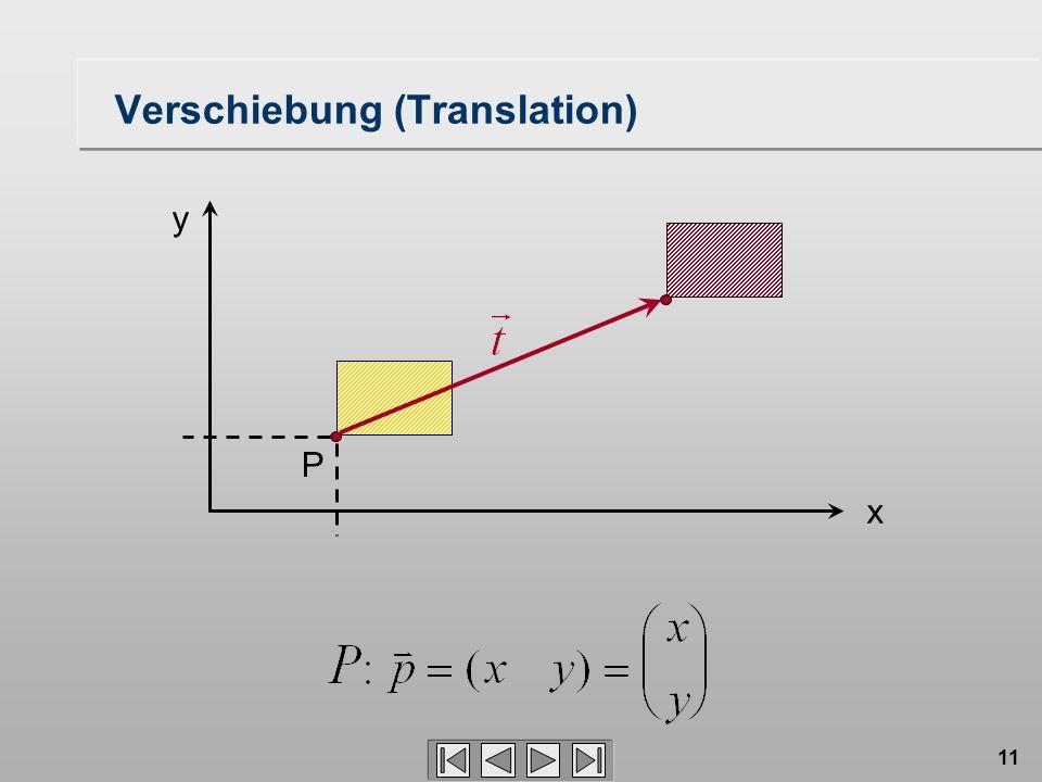 11 Verschiebung (Translation) P x y
