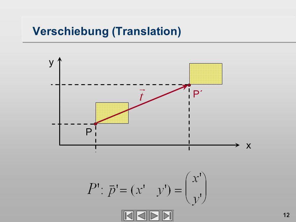 12 P´ Verschiebung (Translation) P x y