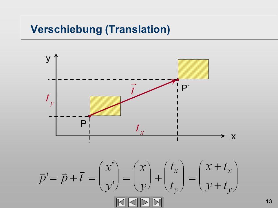 13 Verschiebung (Translation) P´ P x y