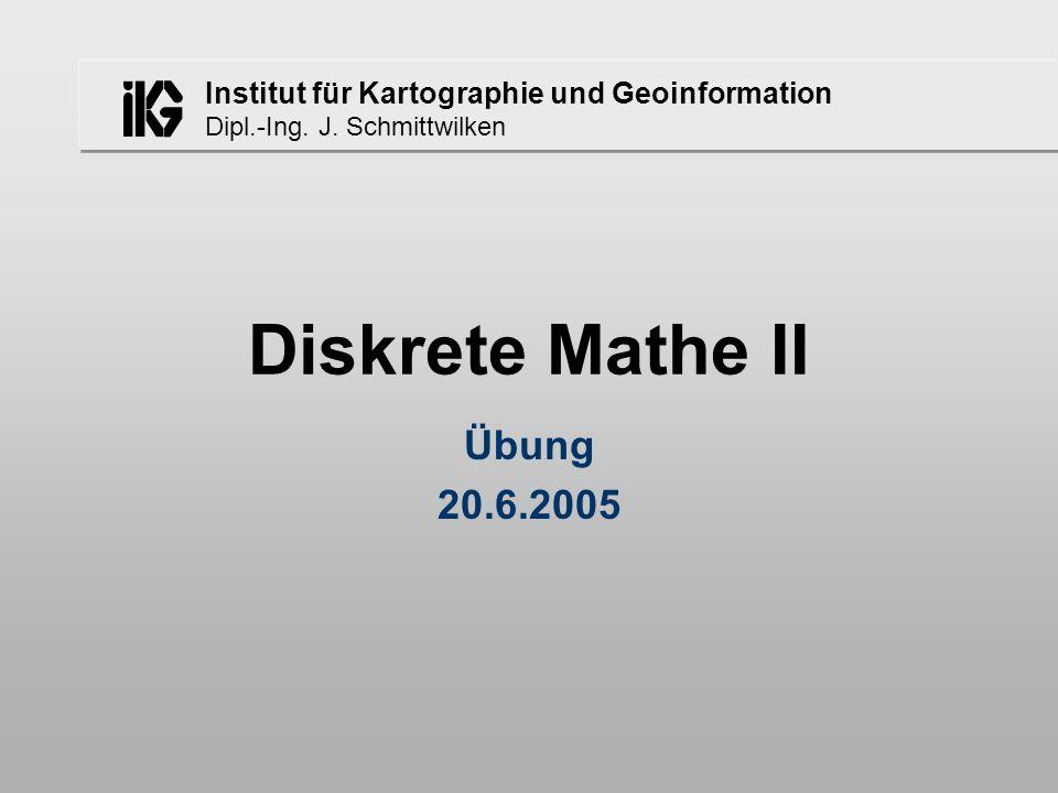 Institut für Kartographie und Geoinformation Dipl.-Ing.