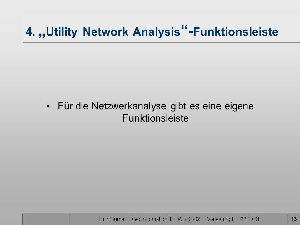Lutz Plümer - Geoinformation III - WS 01/02 - Vorlesung 1 - 22.10.0112 Für die Markierung ist dieses Zeichen wichtig