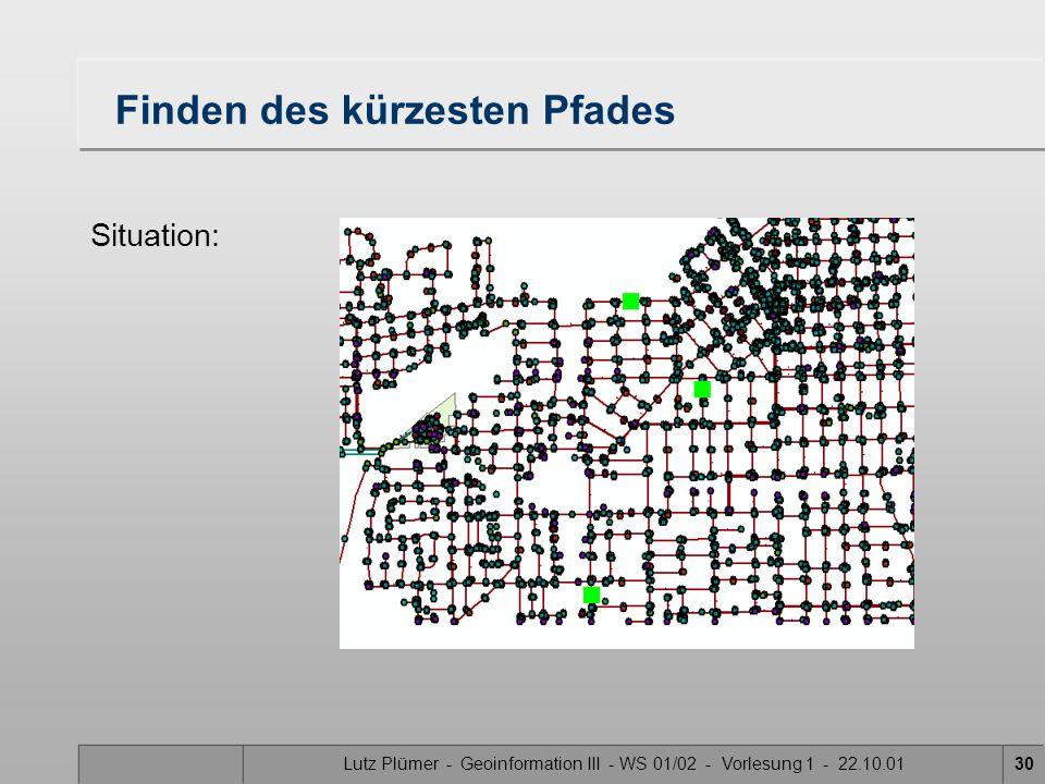 Lutz Plümer - Geoinformation III - WS 01/02 - Vorlesung 1 - 22.10.0129 3. Ausführen
