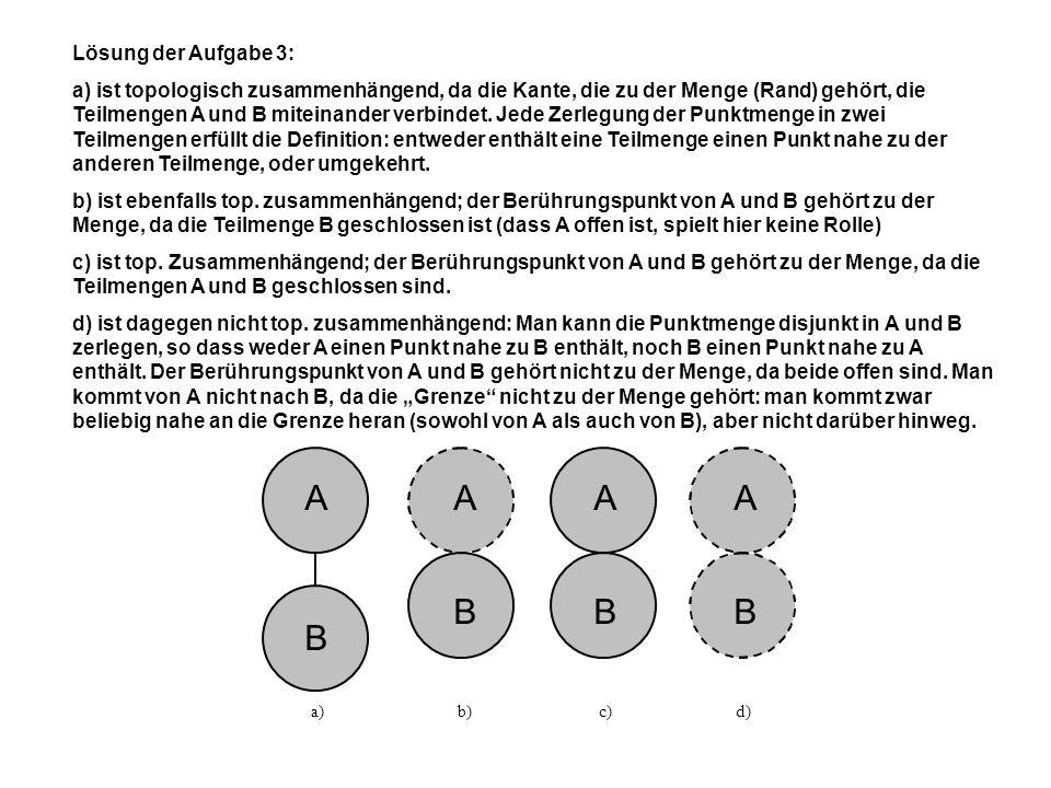 Lösung der Aufgabe 4: Es liegt keine Landkarte vor, da die Kante ae eine trennende Kante ist (bzw.