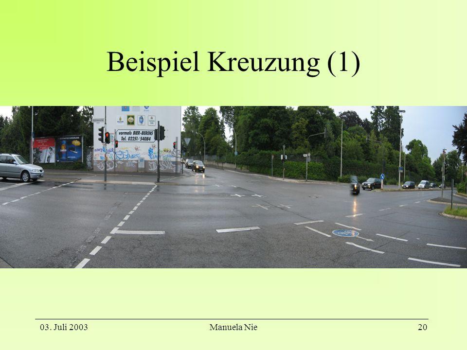 03. Juli 2003Manuela Nie21 Beispiel Kreuzung (2)