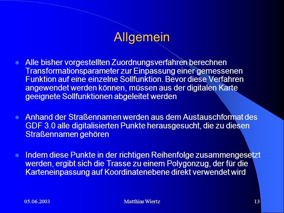 05.06.2003Matthias Wiertz12 Genauigkeitsvergleich