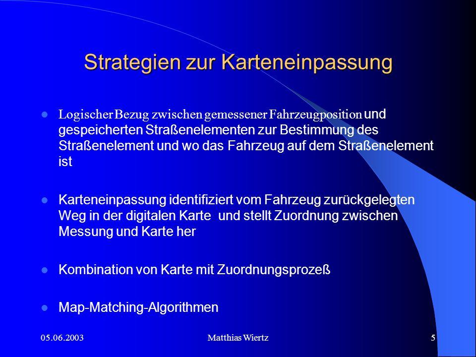 05.06.2003Matthias Wiertz4 Was ist Mapmatching?