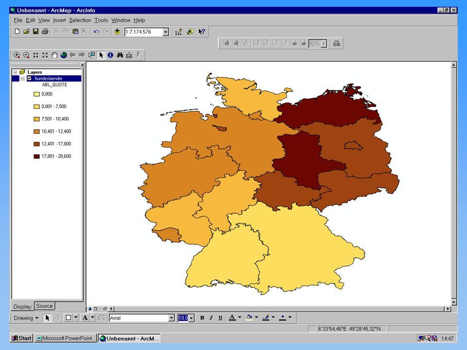 Thomas Eicker Karten II kontinuierliche Phänomene 12.11.2001Proseminar GIS20