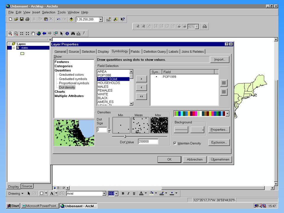 Thomas Eicker Karten II kontinuierliche Phänomene 12.11.2001Proseminar GIS44
