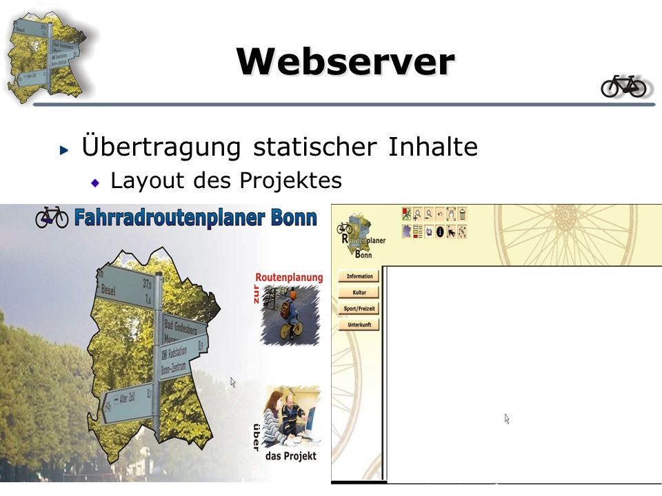 Webserver Übertragung statischer Inhalte Layout des Projektes