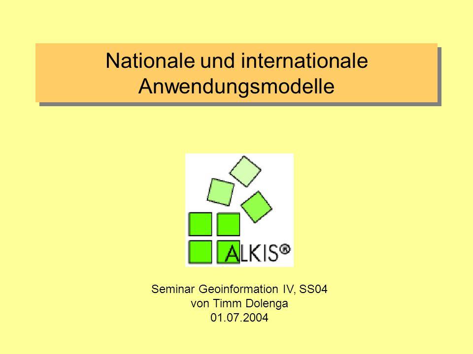 01.07.2004ALKIS Timm Dolenga 22 NAS (Normbasierte Austauschschnittstelle) NAS = Schnittstelle zum Benutzer Wie erfolgt der Austausch ?.