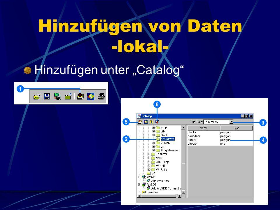 Hinzufügen von Daten -lokal- Hinzufügen unter Catalog