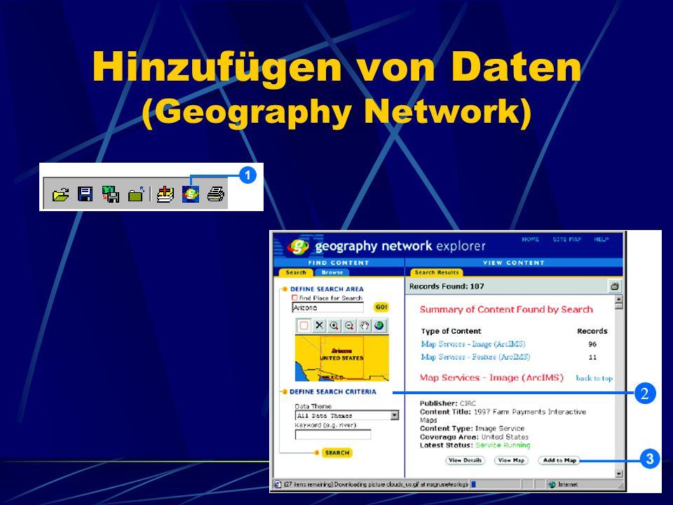 Hinzufügen von Daten (Geography Network) 2