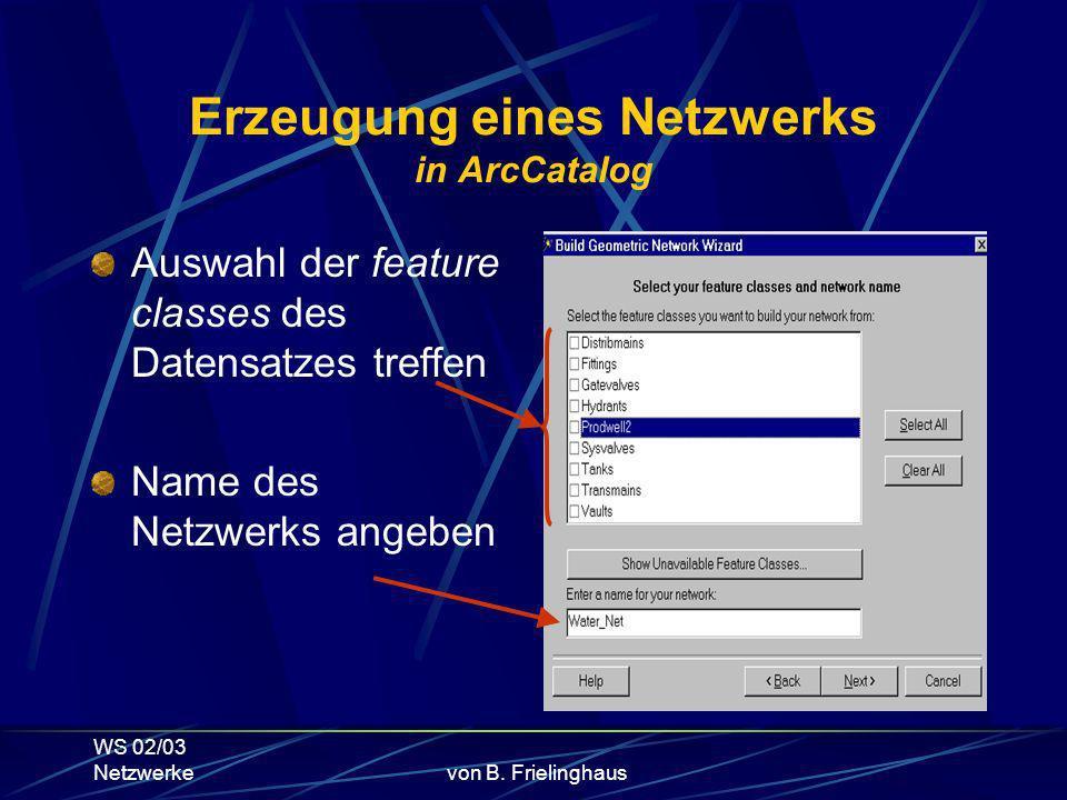 WS 02/03 Netzwerkevon B.