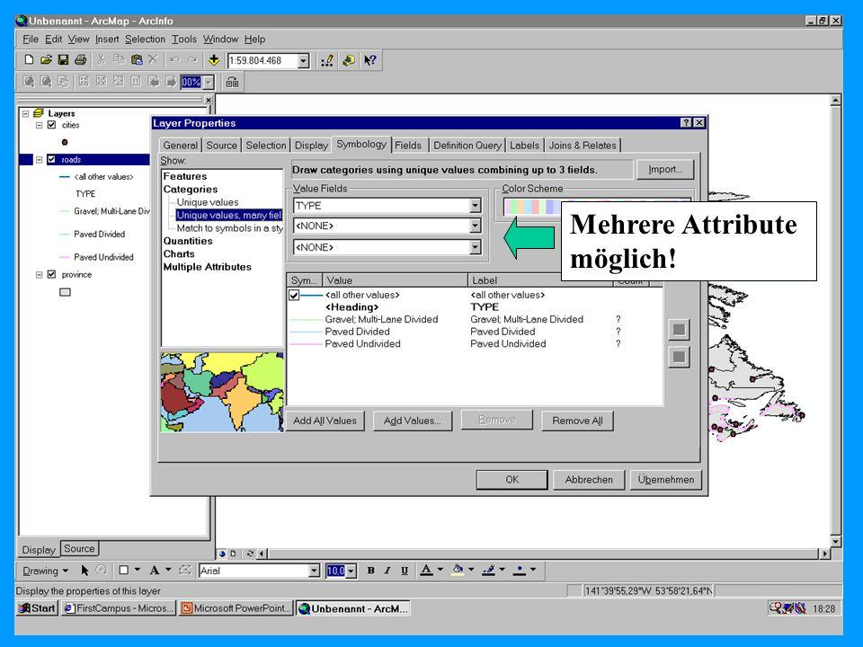 04.11.2002Prosemiar GIS Sebastian Lang30 Mehrere Attribute möglich!