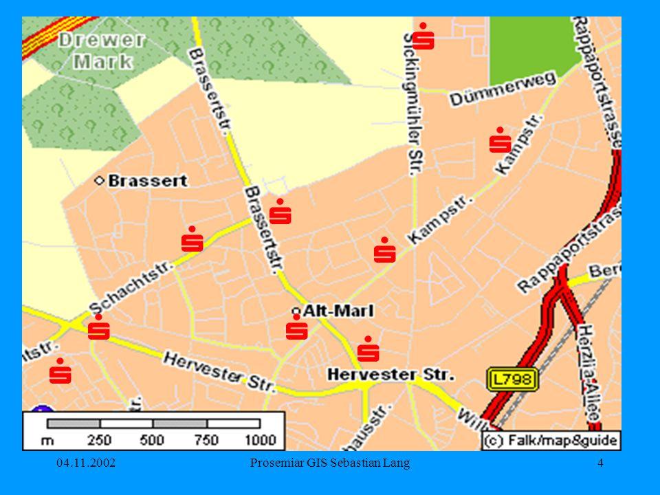 04.11.2002Prosemiar GIS Sebastian Lang15 Linienstärke Der Betrachter sollte mit der Linienstärke die Realität assoziieren können.