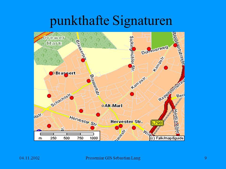 04.11.2002Prosemiar GIS Sebastian Lang40 Aufgabe 2 Öffnen Sie in einer neuen Karte den shapefile D:\Gis-Data\ESRI\Data_and_Maps\europe in ArcMap.