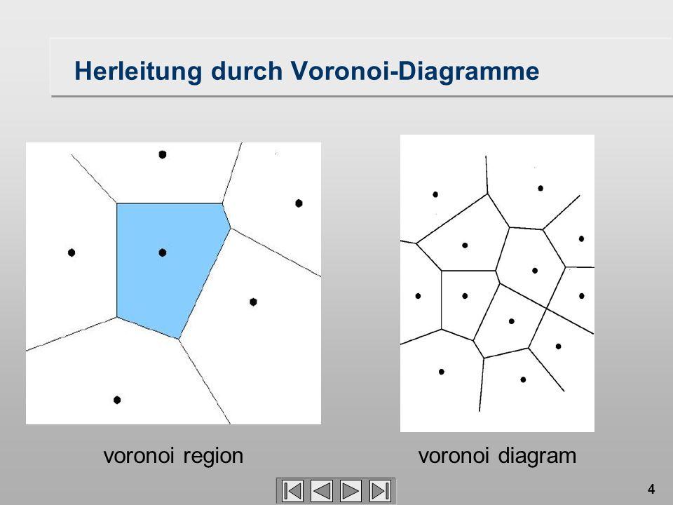 4 Herleitung durch Voronoi-Diagramme voronoi regionvoronoi diagram
