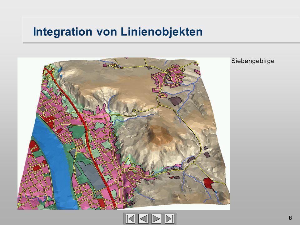 6 Integration von Linienobjekten Siebengebirge
