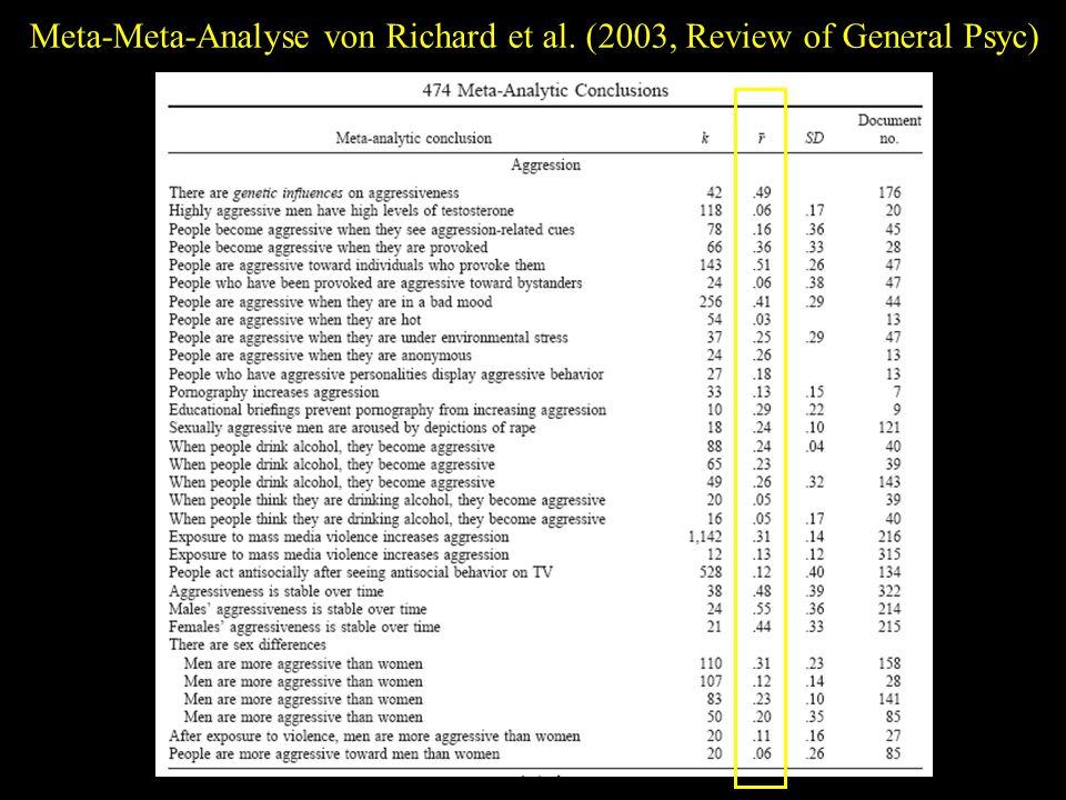 Meta-Meta-Analyse von Richard et al. (2003, Review of General Psyc)