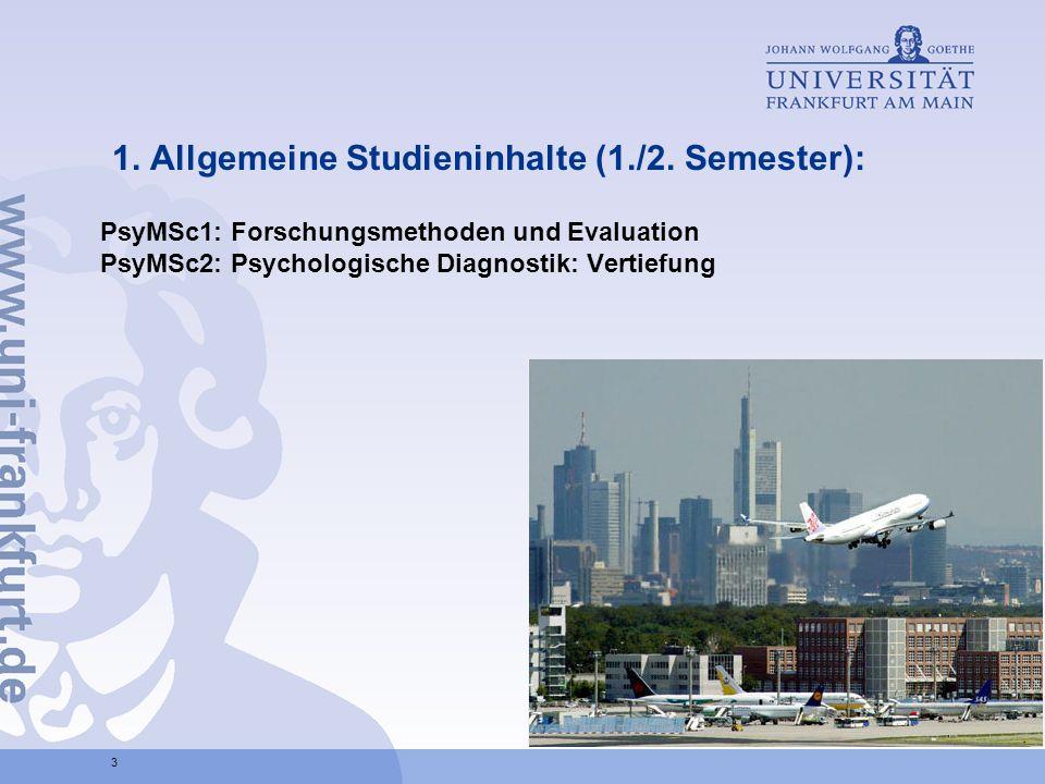1.Allgemeine Studieninhalte (1./2.