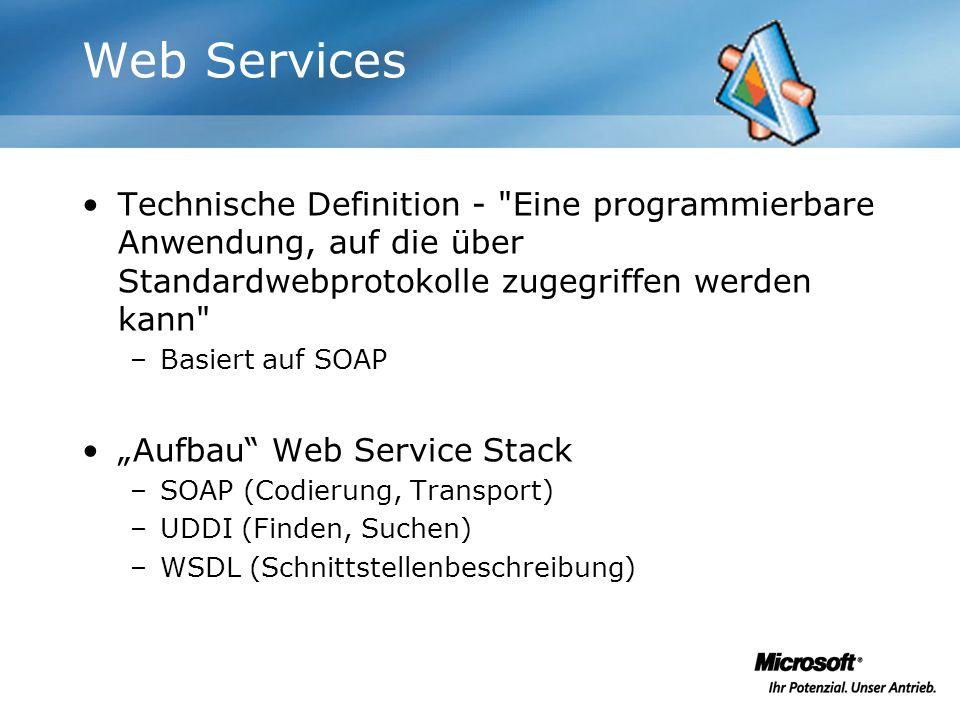Web Services Technische Definition -